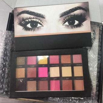 Brand Huda beauty Eyeshadow Pallete Makeup Shimmer Metallic Eye Shadow Palette - intl