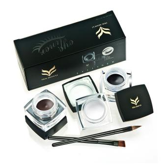 Buy 3 Get 2 Waterproof Creamy Gel Eyeliner Set-04 (White, Black,Brown) - intl Price Philippines