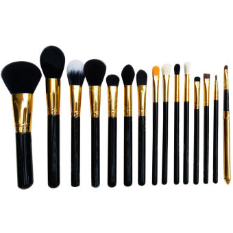 [Buy one get one free gift] 15Pcs Makeup Brushes Pro Cosmetic Make Up Brush Set Superior Soft