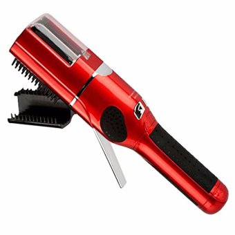Cordless Split End Hair Trimmer (Red)