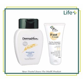 DermaVeen(R) Moisturising Lotion 250ml and Fixderma Foot Cream - Dry,Cracked, Calloused, Foot Skin (13037001)(13036981)