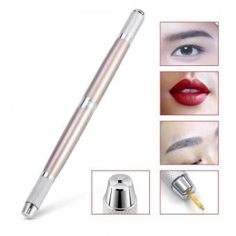 Double-headed Eyebrow Tattoo Microblading Blade Needle Pen Semi Permanent Manual Makeup Tool - intl
