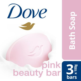 DOVE BAR SOAP PINK BEAUTY 3X100G .
