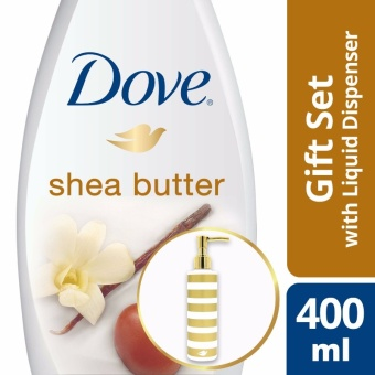 DOVE PURELY PAMPERING SHEA BUTTER BODY WASH 400ML WITH FREE PUMP .