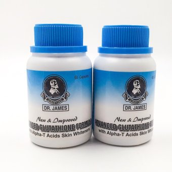 Dr. James Glutathione skin whitening capsules 1000mg 60's Set of 2bottles