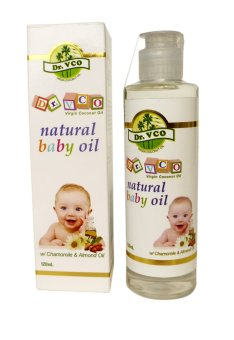 Dr.VCO Natural Baby Oil with Chamomile & Almond Oil 120ml