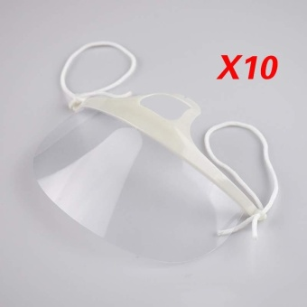 Durable Use Hotel Kitchen Transparent Catering Mask Anti-FogPlastic Kitchen Restaurant eyebrow tattooing Mouth Masks
