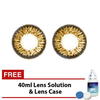 Elite Jewels (Brown) Soft Cosmetic Contact Lens Natural Effect withFREE 40ml Solution Price Philippines