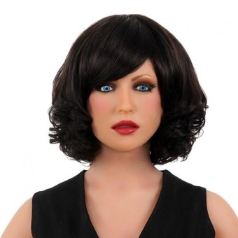 EOZY Women Girl's Hair Wigs 100% Natural Human Hair Full WigHairpiece Toupee (Black) Price Philippines