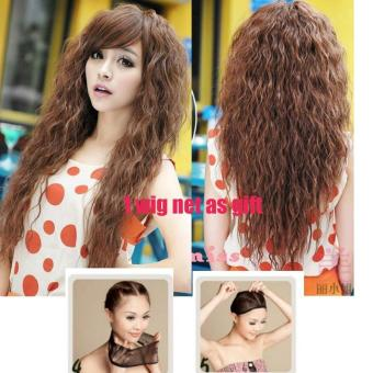 Fashion New Womens Lolita Curly Wavy Long Wigs Cosplay Party FullHair Wig - intl