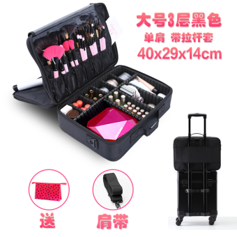 FOREVER large manicure beauty pattern embroidery tool box cosmetic box