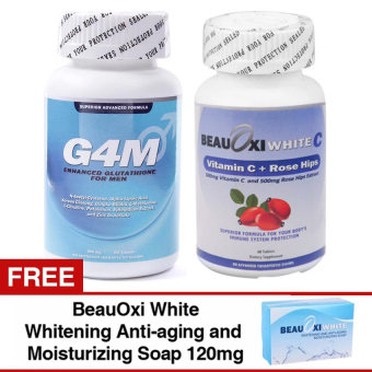 G4M Glutathione for Men and BeauOxi White-C Combo with FREE BeauOxiWhite Soap Price Philippines