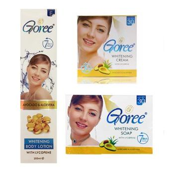 Goree Beauty Soap, Cream and Lotion Set Anti-aging Whitening (Setof 3)