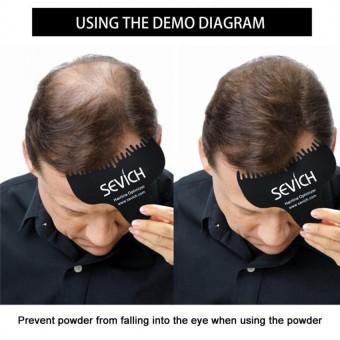 Hair Optimizer Hair Building Fibers Comb Hair Loss Concealer Powder Hairline Guideline Comb - intl