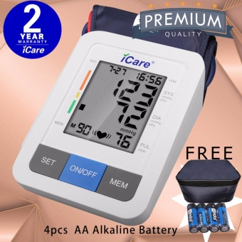 iCare CK802 Digital Upper Arm Blood Pressure Monitor with Irregular Heart Beat Detector and WHO Indicator Price Philippines