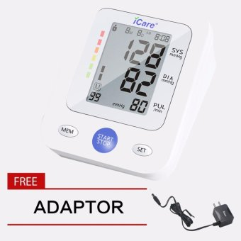 iCare(R)CK2289 Upper Arm Blood Pressure Monitor w/Medical PremiumQuality Adaptor (White) Price Philippines