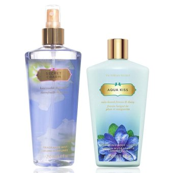 Harga Victoria's Secret Bundle (Secret Charm Body Mist + Aqua Kiss Body Lotion)