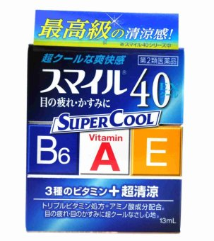 Harga LION Smile Super Cool 40 EX Vitamin Eye Drops 13ml