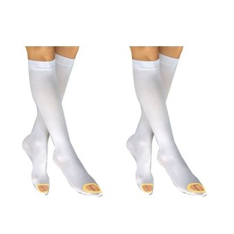 Harga MBHM Knee High Anti Embolism Compression Stockings (White) Set of 2
