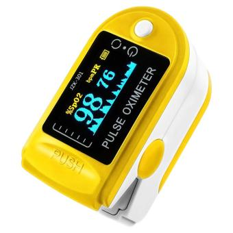 niceEshop Finger Pulse Oximeter Finger Oxygen Meter With Pulse Rate Monitor, Yellow Price Philippines
