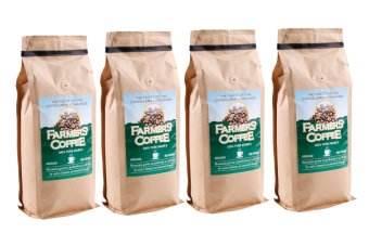 Harga Farmers' Coffee 100% Pure Arabica Ground 500 grams Pack of 4