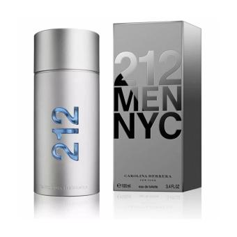 Harga Carolina Herrera 212 MEN NYC Eau De Toilette Perfume for Men 100m