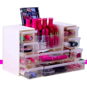 New 2017 Hong Kong High Fashion Multi Storage Make Up Organizer(white) Price Philippines
