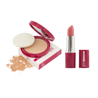 Harga Belo Cosmeticare Face Powder (Natural) with Lipstick (Rosy Nude)