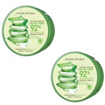 Nature Republic Soothing and Moisturizing Aloe Vera 92 Soothing Gel 300ml Set of 2 Price Philippines