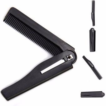 Fancyqube Handmade Folding Pocket Clip Hair Moustache Beard Comb - intl Price Philippines