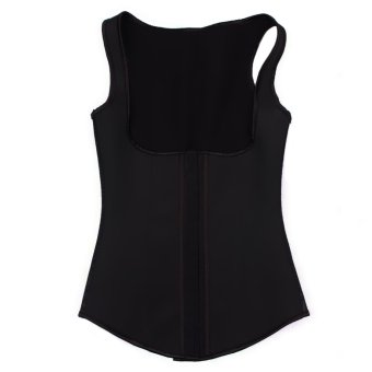Harga Rubber Body Slimming Sculpting Clothes Waist Abdomen S/M (Black)