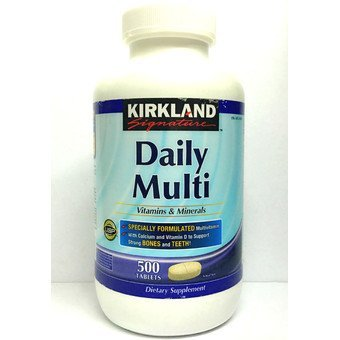 Harga Kirkland Signature Daily Multi Vitamins & Minerals Tablets, 500-Count Bottle