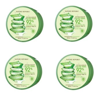 Nature Republic Soothing and Moisturizing Aloe Vera 92 Soothing Gel 300ml Set of 4 Price Philippines