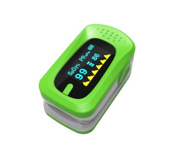 Pulse Oximetry Blood Glucose Meter Pulse Measuring Instrument Portable Finger Clip Type Oximeter (Green) - intl Price Philippines