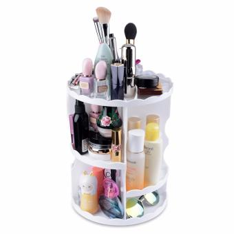 Plastic 360 Degree Rotation Cosmetics Storage Box Holder Dresser Cosmetic Organizer Stand MAT44 - intl Price Philippines