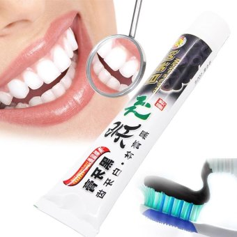 Harga Black Bamboo Charcoal Toothpaste Oral Hygiene Remove bad Breath Bacteria to Prevent Oral Ulcers to Protect Whitening Teeth - intl