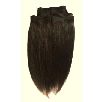 Harga Keira Hair Extensions 16inches long Bra length Full Head Package Set (Dark Brown)