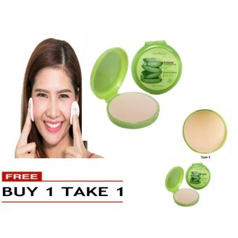 Soothing & Moisturizing 99% Aloe Vera Pressed Powder Foundation Makeup #3 49g BUY 1 TAKE 1 Price Philippines