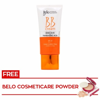Harga BELO INTENSIVE WHITENING BB CREAM 50mL with FREE Belo Cosmeticare Face Powder (Light) 12g