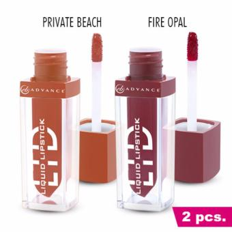 2 PCS. EVER BILENA ADVANCE LTD LIQUID LIPSTICK (FIRE OPAL & PRIVATE BEACH) Price Philippines