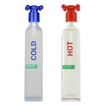 Harga United Colors of Benetton Cold Eau de Toilette for Men 100ml with United Colors Of Benetton Hot Eau De Toilette For Women 100ml