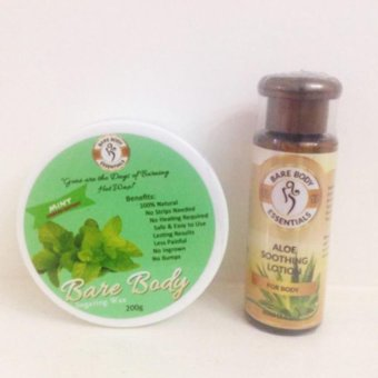 Bare Body Ph Sugar Paste Hair Removal 200g (Mint) + Aloe Soothing Lotion Price Philippines