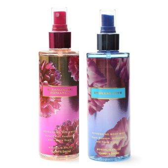 Harga Queen Secret Blossoming Romance Body Mist 250ml with Queen's Secret Endless Love Body Mist 250ml Bundle