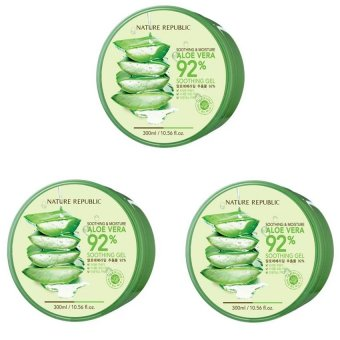 Nature Republic Soothing and Moisturizing Aloe Vera 92 Soothing Gel 300ml Set of 3 Price Philippines