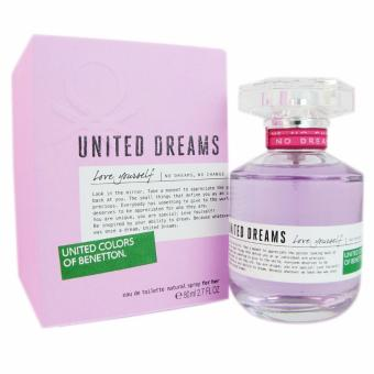 Harga UNITED COLORS OF BENETTON for Women United Dreams Love Yourself Eau de Toilette 80ml/2.7oz (UPC: 8433982000546)