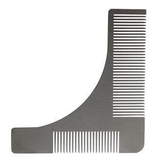 Harga Andux Men's Beard Comb Stainless Steel Beard Styling Shaping Template BXGSZ-01 Silver - intl