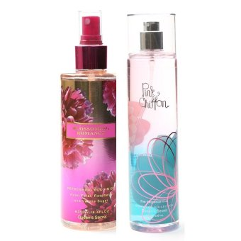 Harga Queen Secret Blossoming Romance Body Mist 250ml with Queen's Secret Pink Chiffon Fine Fragrance Mist 236ml Bundle