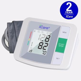 Harga iCare®CK930 Accurate Upper Arm Blood Pressure Monitor and Heart Rate Monitor (White)