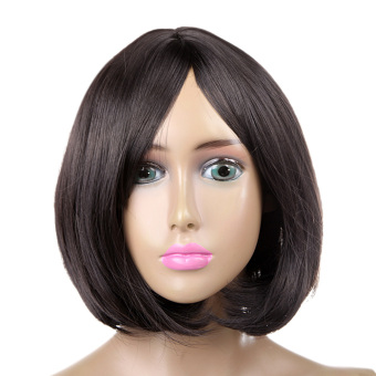 Harajuku Short Curly Fashion Hair Wig With Bangs ( Black ) (Intl) Price Philippines