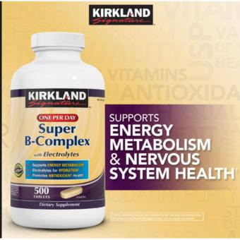 Kirkland SignatureSuper B-Complex with Electrolytes Tablets, (500 Caps) Price Philippines